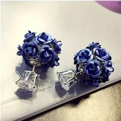 Pendientes de cristal redondos de la bola del ramo de la flor de la moda Espárragos