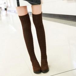 Botas altas suéter de moda nuevas