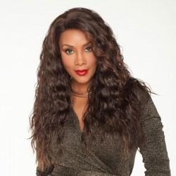 Peluca de pelo de mujer degradada rizada ondulada larga de moda