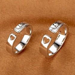 Romántico Amor Carta Par Apertura anillos