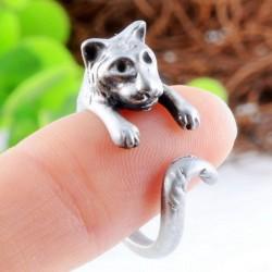 Encantador animales Volumen Cola Tigre Aleación Apertura anillo