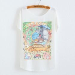 Mi vecino Totoro Animal impreso camiseta de algodón