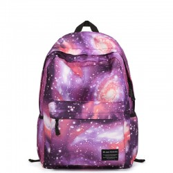 Fresco Fantasía Galaxia Nebulosa Bolsa para la escuela Mochila