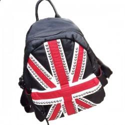 Moda Calle bandera del Reino Unido Remache Bolsa para la escuela Mochila de Viaje