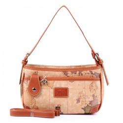 Las mujeres retro Mapa del Mundo rectangular pequeña bolsa de mensajero del bolso
