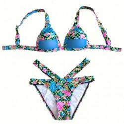 Gradiente Encogimiento Envuelto Traje de baño Bikini en traje de baño Traje de baño traje de baño Bikini