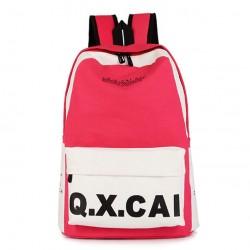 Manera simple mochila de lona y bolso de escuela