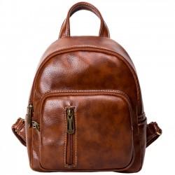 Retro cremallera vertical simple ocio señora bolsa mochila escolar