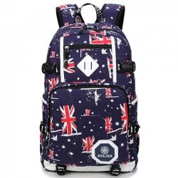 Guay Reino Unido Bandera Oxford Camuflaje grande estudiante viajes bolsa hombres Cámping Ordenador portátil Mochila