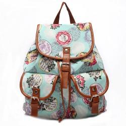 Mochila de viaje floral de la mochila de la mochila de la lona de la moda