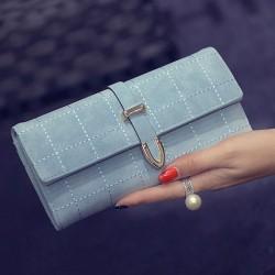 Flecha de fregado retro bordado bolso largo de embrague de las mujeres bolso de la cartera