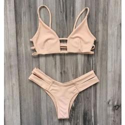 Traje de baño rosa del vendaje traje de baño sexy bikini traje de baño