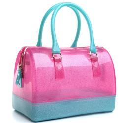moda dulces de colores transparente cristal bolso