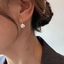 Pendientes de gancho de perlas elegantes Pernos prisioneros de joyería para ella Pendientes colgantes