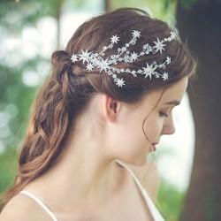 Pinza de pelo de diamantes de imitación de rama de estrella de dama de honor hecha a mano fresca accesorios para el cabello de boda para mujeres