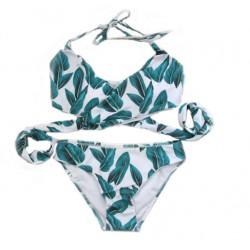 Traje de baño de la impresión de traje de baño sexy traje de baño de bikini de Split Straps
