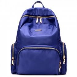 Ocio mochila de escuela de gran capacidad Mochila de viaje a prueba de agua de todo color Oxford con cremallera de tela