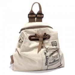 Nuevo paño de algodón fresco literario Minimalista Mochila Mochila de viaje de la bolsa de la escuela