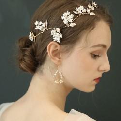 La rama de flor de horquilla nupcial original única deja accesorios para el cabello de boda