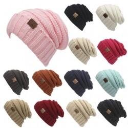 Sombrero de tejer gorro de tejer lana Beanie Gorro de lana de punto de mujer