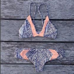 Traje de Baño Sexy Bikinis Split Traje de Baño Rosa Estampado Leopardo