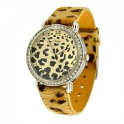 Sexy y hermoso reloj con estampado de leopardo