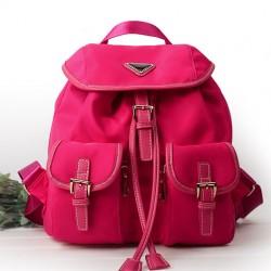 Moda Multi-bolsillo Puro Color Impermeable Mochila