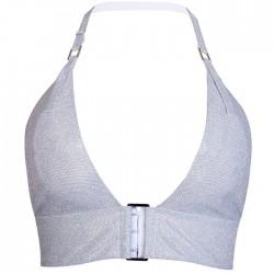 Sexy Camisola Destello V profundo Lentejuelas Hebilla Sujetador Flash Diamond Vest Lencería