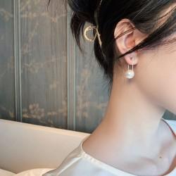 Elegante perla de calidad AAA Gota para el oído para mujer Pendientes colgantes de perlas de plata Gota