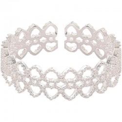 Anillo de mujer de plata abierta de regalo romántico de corazón de amor hueco exquisito de encaje de lujo