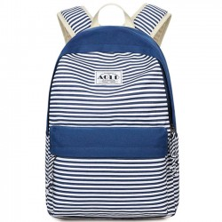 Bolso de estudiante de rayas de diseño bolsa de viaje de ocio Lona de rayas bolso de escuela de niña