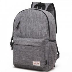 Bolso morado simple de la escuela de la textura cepillada escarchada Bolsillo pequeño mochila de Oxford decorativa del estudiante del bolsillo