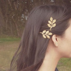 Retro Beautiful Forest Style Olive Branch Leaves Bride Hairpin Hair Accessory