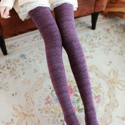 Patrón de onda pantimedias de algodón / calcetines / medias
