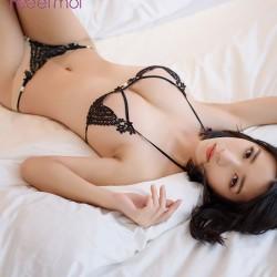 Corazón de amor de encaje sexy Conjunto de sujetador de honda Perla Pantalones dama Hueco transparente Lencería íntima
