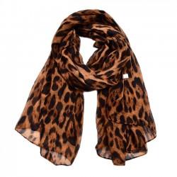 Ocio Bufanda gasa fina de algodón Leopardo Multicolor Bufandas de mujer