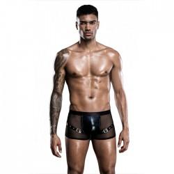 Panty de malla negra sexy para hombre bragas cortas de empalme de cuero  ropa interior para hombre lencería íntima