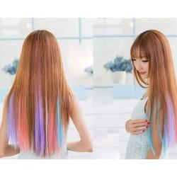 Destacados bonitos y coloridos clips extensiones de cabello