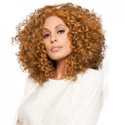 Peluca de pelo rizado ondulado largo ondulado de moda para mujer