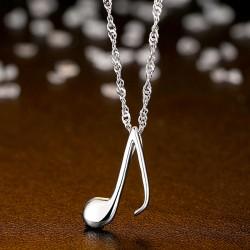 Pendentif en forme de musique douce pendentif en argent de la chaîne de la clavicule