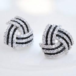 Boucles d'oreille en forme de spirale argent
