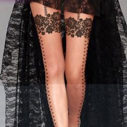 Sexy tatuaje medias de seda super finas de impresión / medias falsas altas