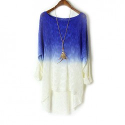 Fashion Irregular Gradient Sweater