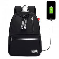 Mochilas escolares para mujeres adolescentes niñas resistentes al agua Mochila para portátil con puerto de carga USB para libros