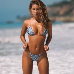 Traje de baño floral atractivo de doble cara de la honda Bikinis del vendaje de las nuevas mujeres
