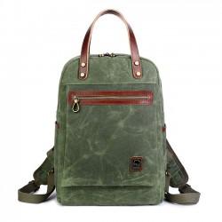 Retro Oil Wax impermeable lona mochila multifunción bolso hombres al aire libre mochila de viaje