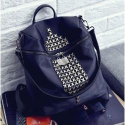Moda impermeable Oxford Cloth remache ocio mochila de viajes bolsa de escuela