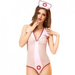 Disfraz de Cosplay de enfermera sexy Perspectiva de juego de roles Lencería femenina combinada