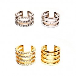 Clásico Completo Diamante de imitación Fila Articulación anillo