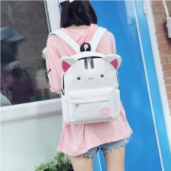 Mochila encantadora del bolso del estudiante de la mochila de la escuela de la mochila del estudiante del oído del conejo del gato encantador
